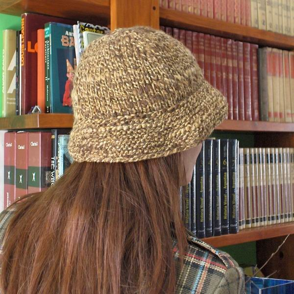 Brown and Beige Mottled Hat