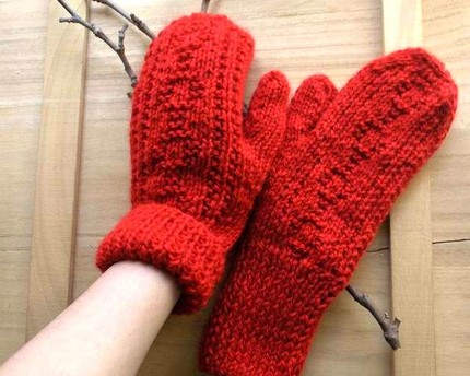 London Mittens - Red