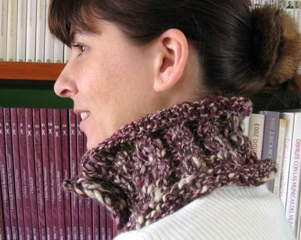 Maxima Scarflette - Marbled Lavender, Purple, Brown and Beige