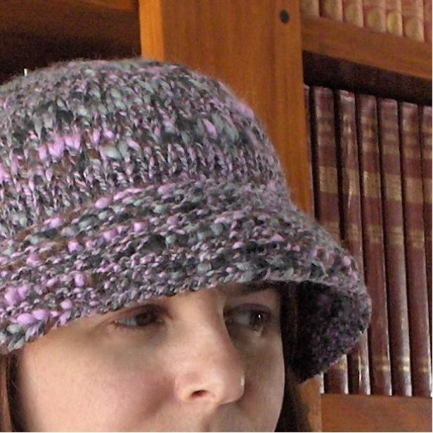 Hat Mottled With Lila