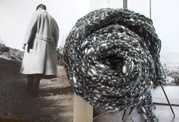Maxima Scarf - Marbled Grey, Black and White