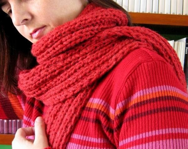 Madonna Scarf - Coral Red