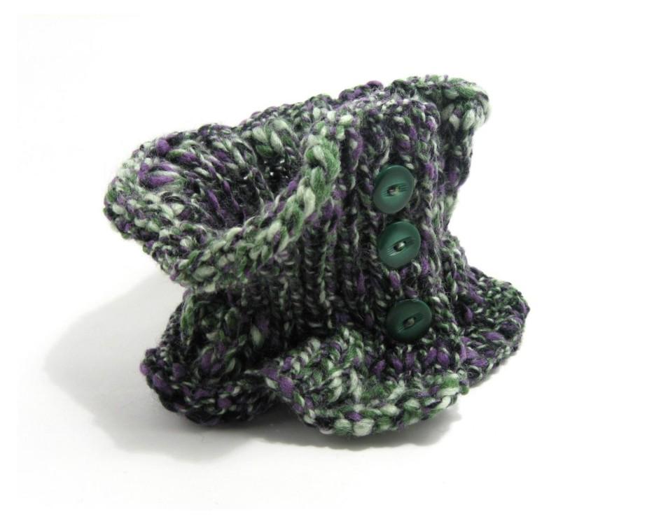 Scarflette - Marled Violet, Green, Light Green and Black