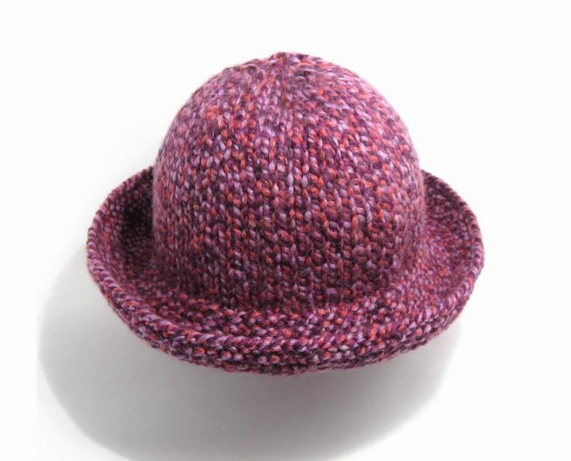 Hat - Marled Purple, Pink and Lavender