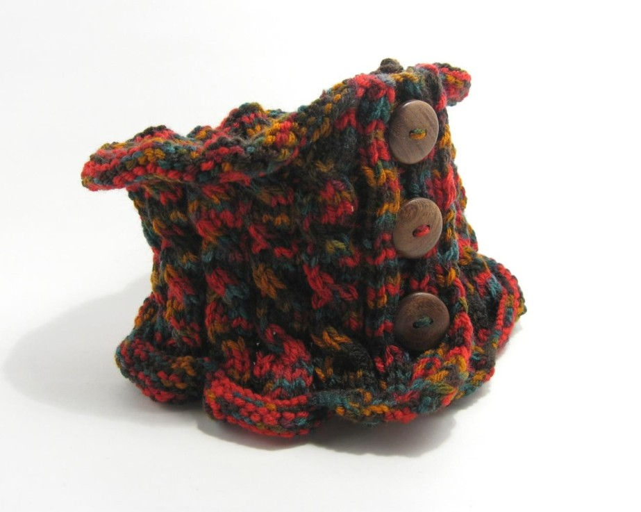 Scarflette - Variegated Brown, Red, Ocher and Teal