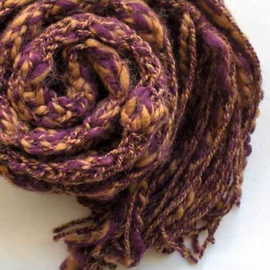 Violet and Amber Mottled Scarf