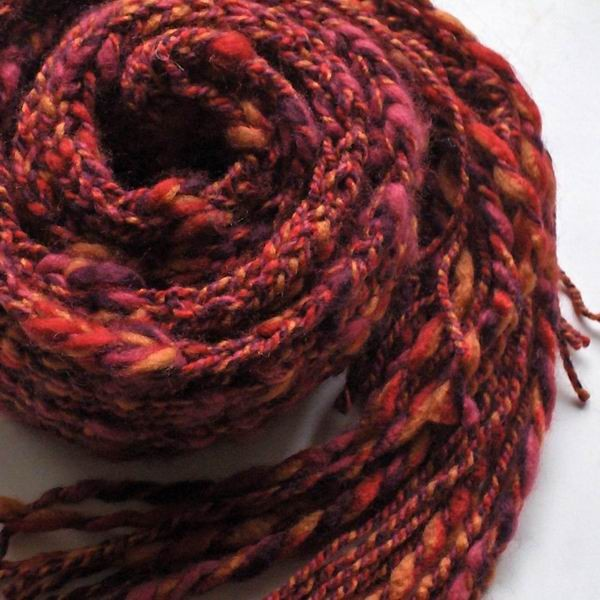 Orange, Red and Purple Mottled Scarf
