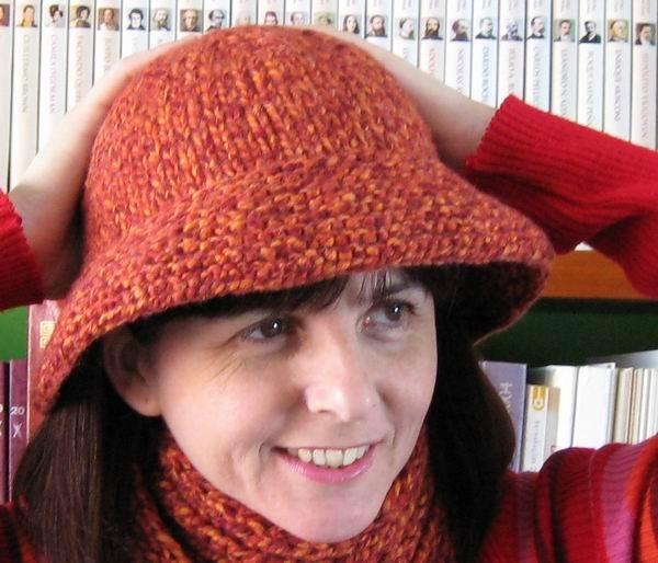 Hat - Marled Terracotta and Orange