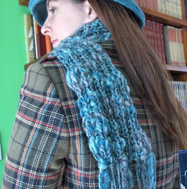 Sky Blue and Grey Scarf