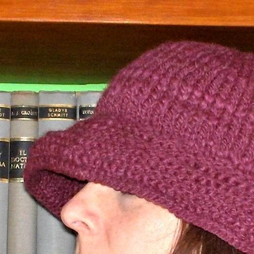 Purple HandKnit Hat