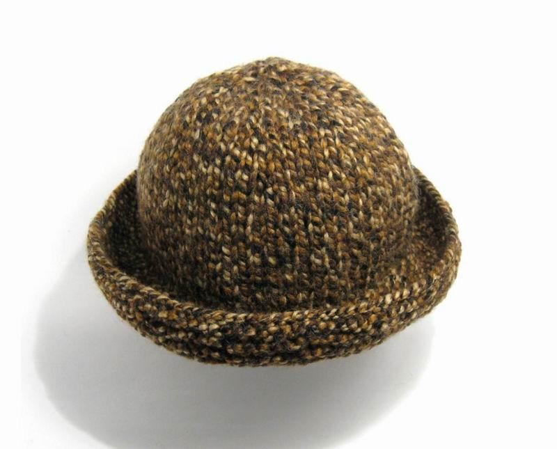 Cloche Hat - Marled Brown