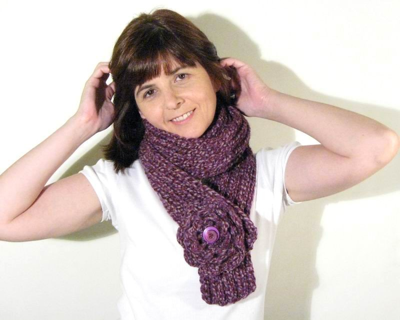Scarf - Marled Purple and Lavender