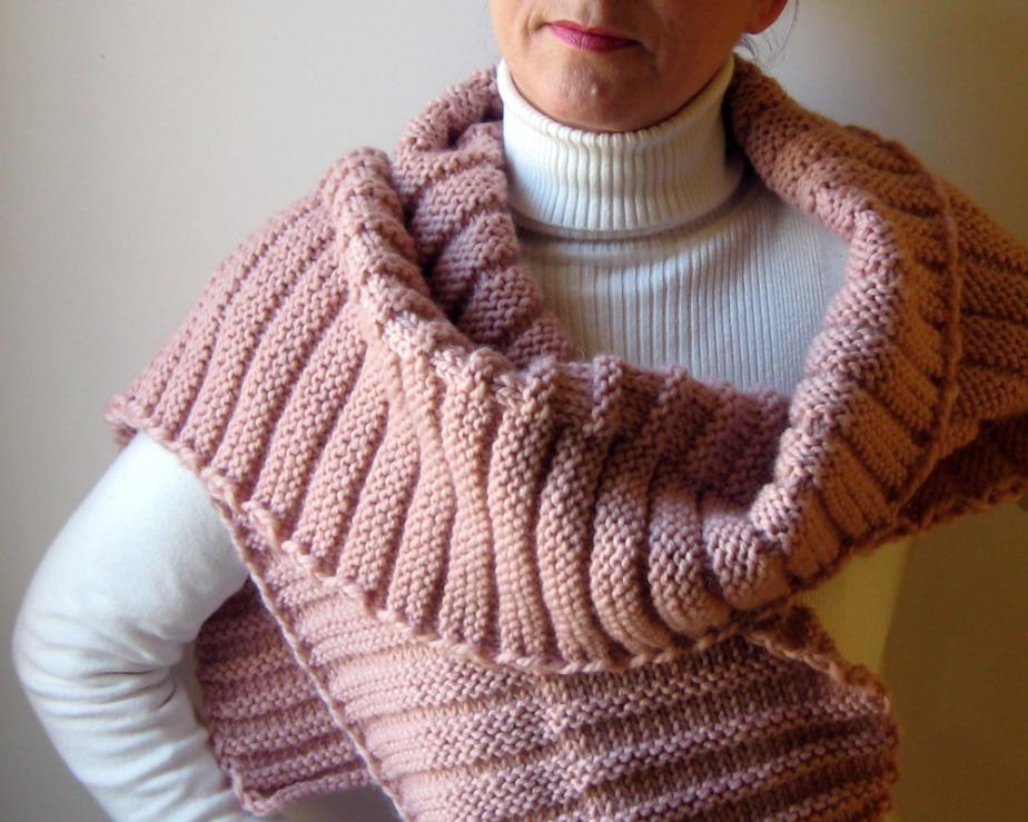 Nuestra super bufanda rosa de merino