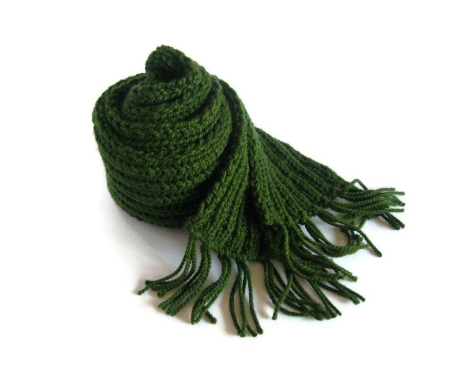 Green Chunky Scarf