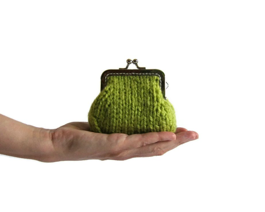 Chartreuse Green Coin Purse