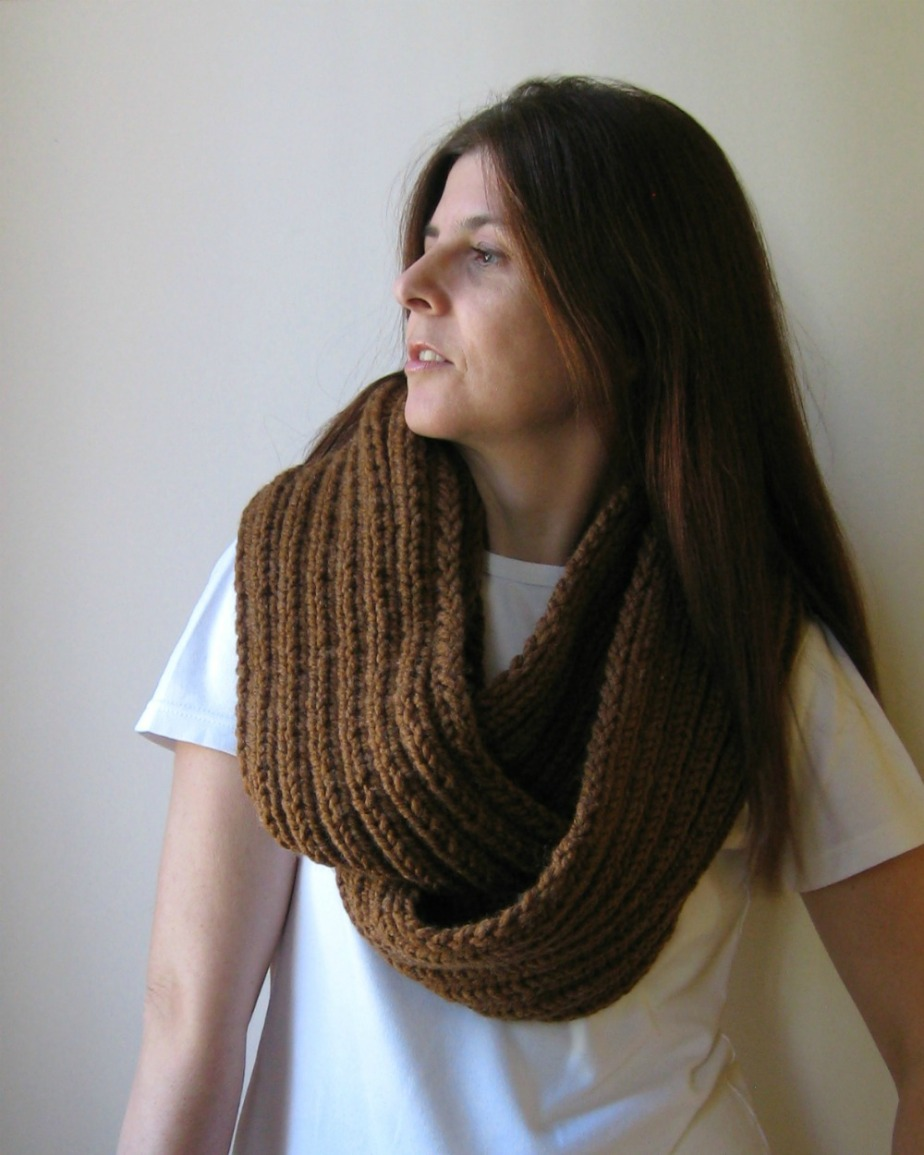 Copper Brown Infinity Scarf
