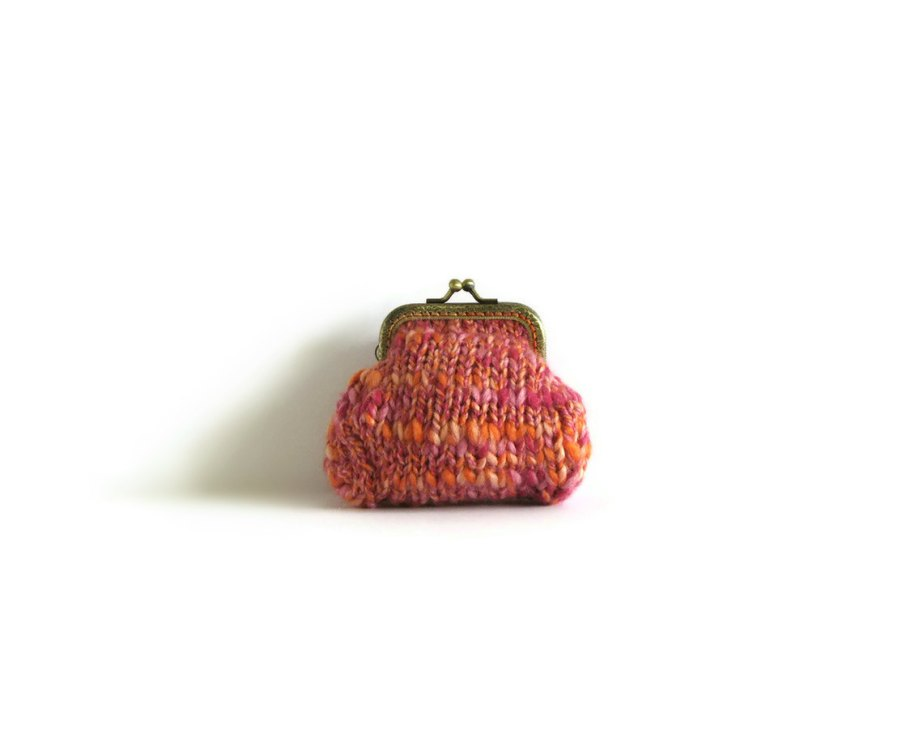 Pink and Orange Coin Purse