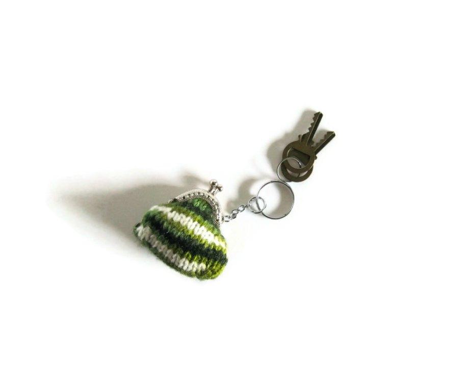 Green Mini Clutch Key Chain