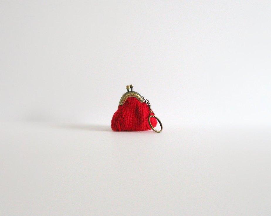 Red Clutch Keychain