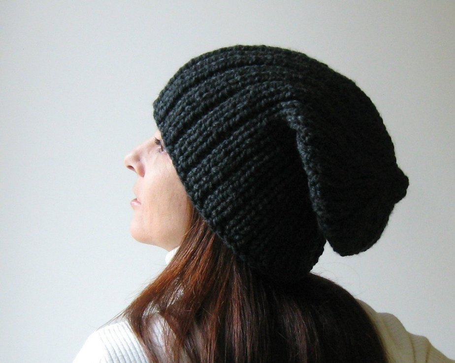 Charcoal Slouchy Hat