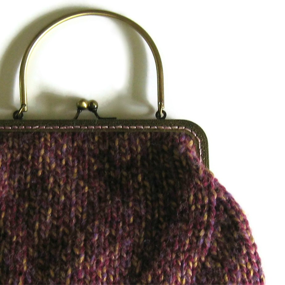 Tweed Purple Wristlet
