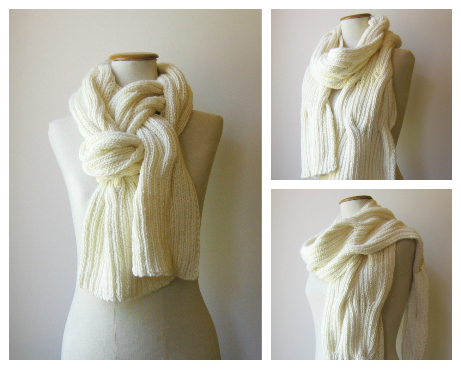 Ivory Waves Scarf