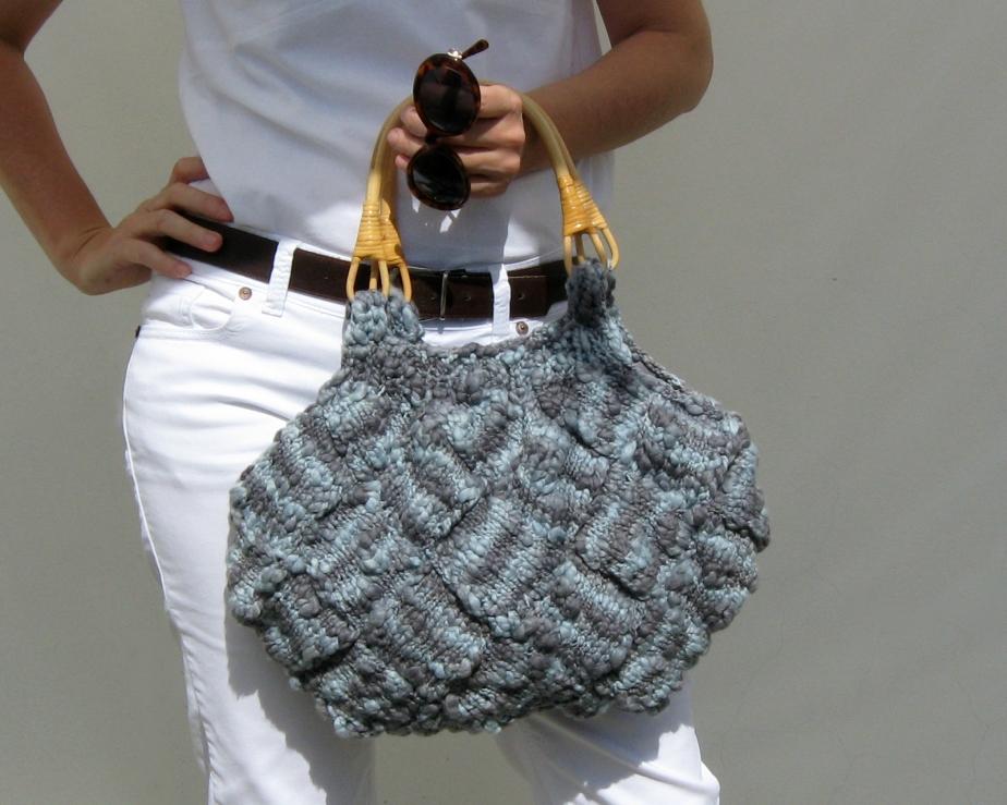 Variegated Gray Handbag