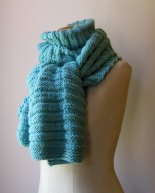 Robin Egg Blue Scarf by knitbranda