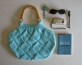 Robin Egg Blue Bag by knitbranda