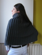 Dark Gray Poncho by knitbranda