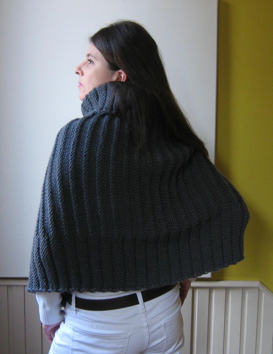 dark gray poncho