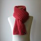 Coral Red Catalano Scarf by knitbranda