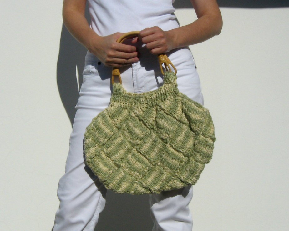 Variegated Green and Cream Bag