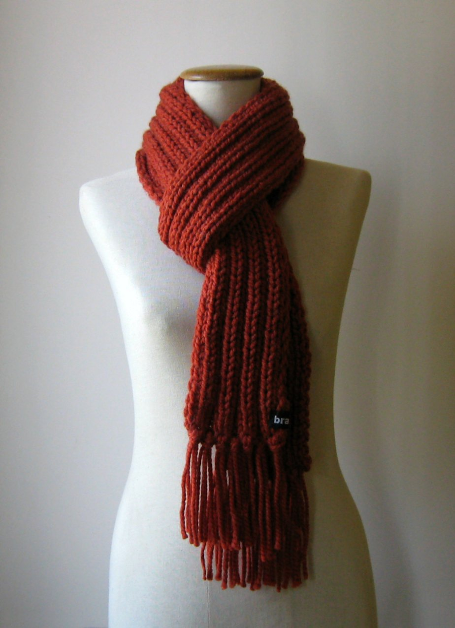 Fisherman Scarf Terracotta