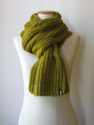 Waves Scarf Yellow by knitbranda