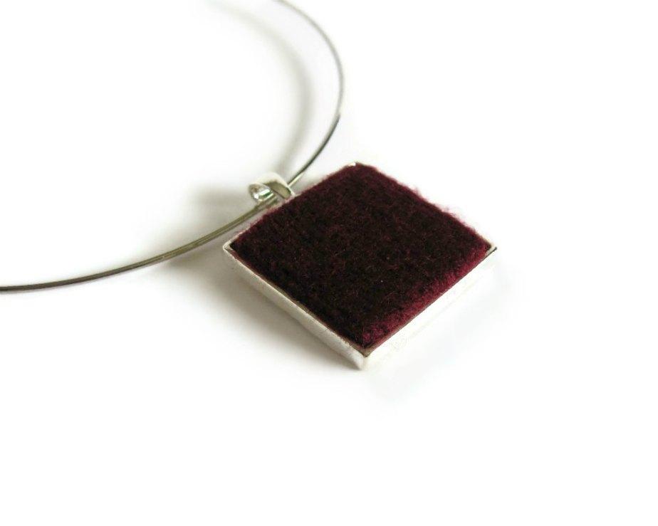 Burgundy Pendant