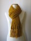Yellow Fisherman Scarf by knitbranda