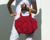 Cerise Red Handbag by knitbranda