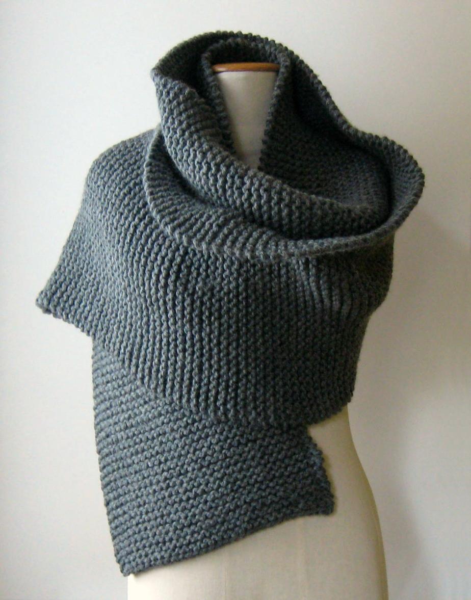 Dark Gray Oversized Scarf by knitBranda