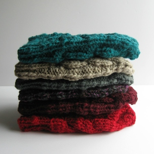 Stacked beanies by knitBranda