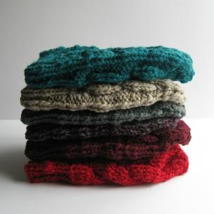 Stacked beanies by knitBranda