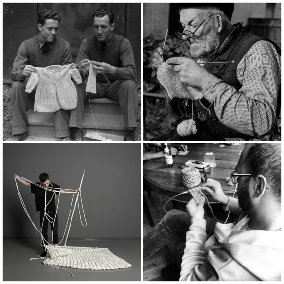 Men Knitting
