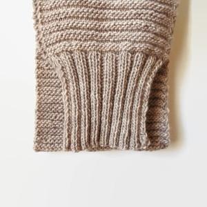 Detail Sweater Scarf Knit inChunky Ecru Wool Made By Branda