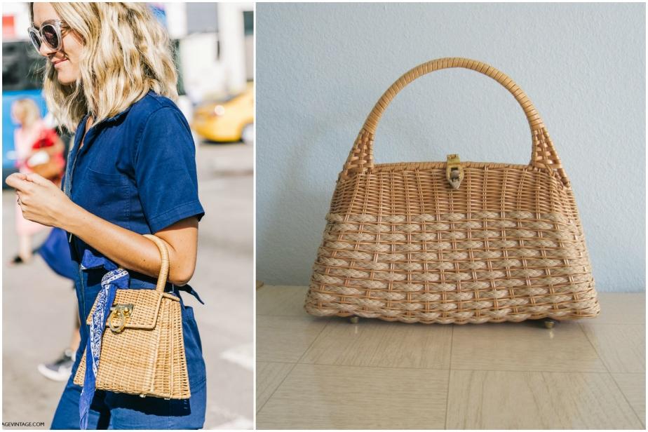 Elegant 60s Wicker Handbag Vintage - badchollavintage / NYFW