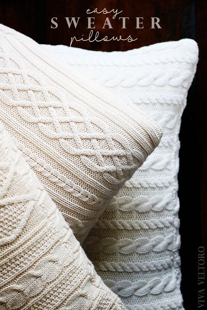 Cómo aprovechar viejos sweaters para forrar almohadones