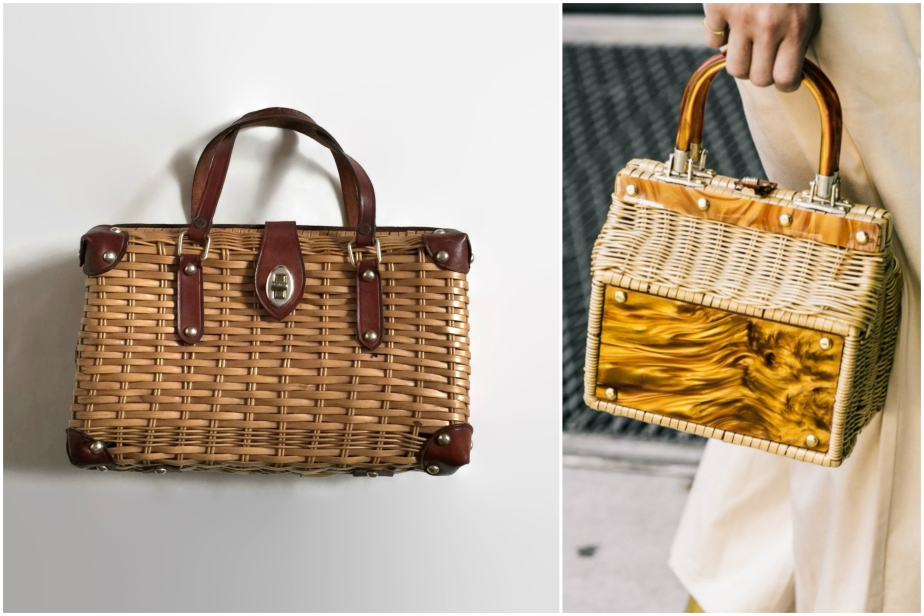 1960s wicker basket purse - gladhosts / NYFW