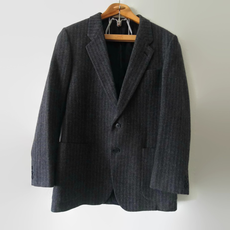 Vtg Lancio Italian Tweed Wool Jacket Blazer 38 Regular de sssggg