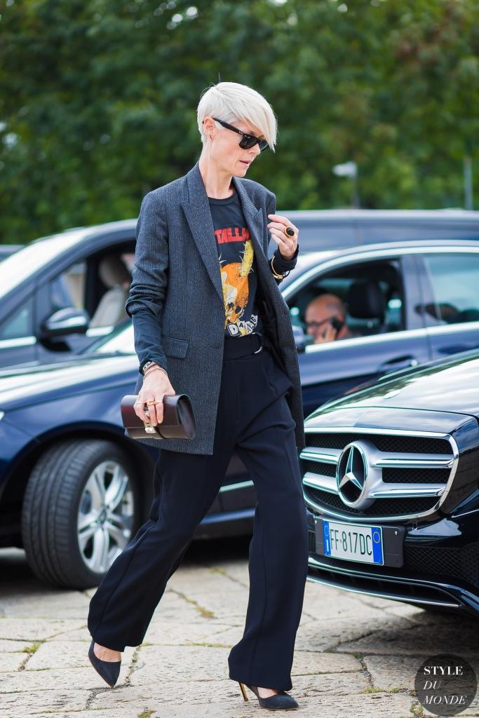 Kate Lanphear antes del desfile de Gucci
