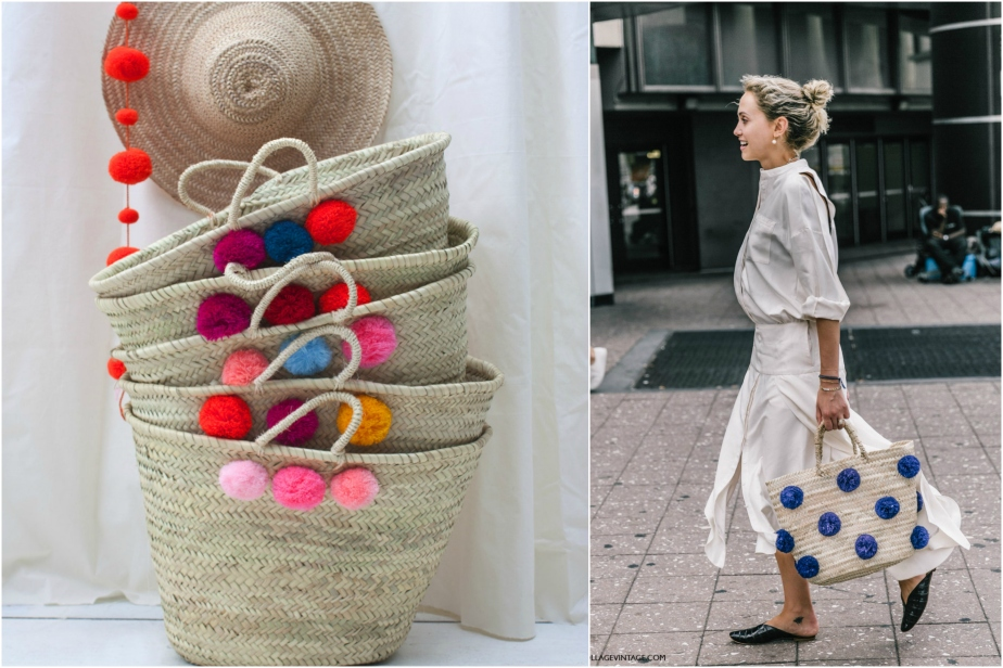 Mixed Pom Pom Basket - LoveBohemians - NYFW