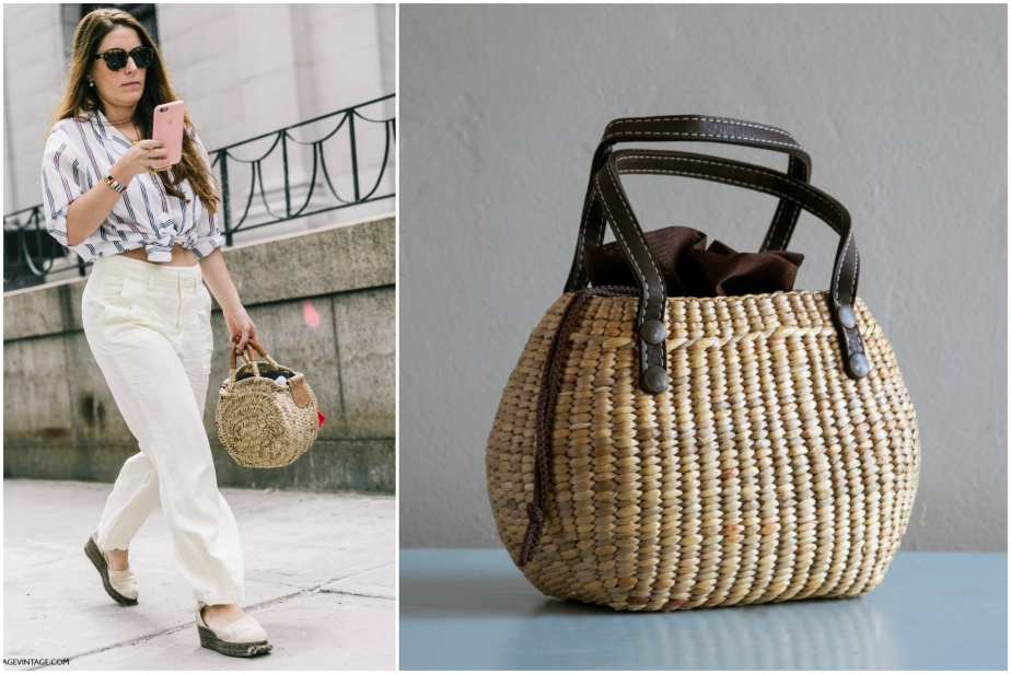 Handwoven mini straw bag - seagrasstotes / NYFW